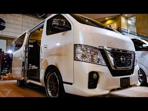 (4K)IFUU NISSAN NV350 CARAVAN PREMIUM GX NV350キャラバンプレミアムGX - TOKYO AUTO SALON 2019