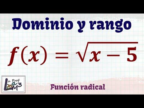 Dominio y rango de una función radical | Ejercicio 2 | La Prof Lina M3