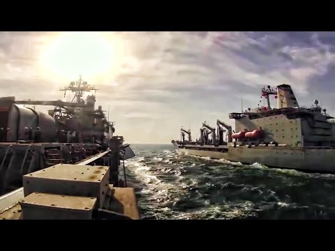 Navy Ships Refuel At Sea - Tme Lapse