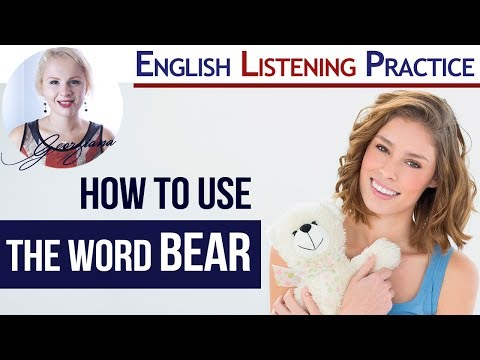 To Bear 🐻  | Idioms, Phrasal Verbs and Story with BEAR