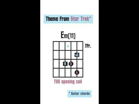 Star Trek TOS - guitar chords #shorts