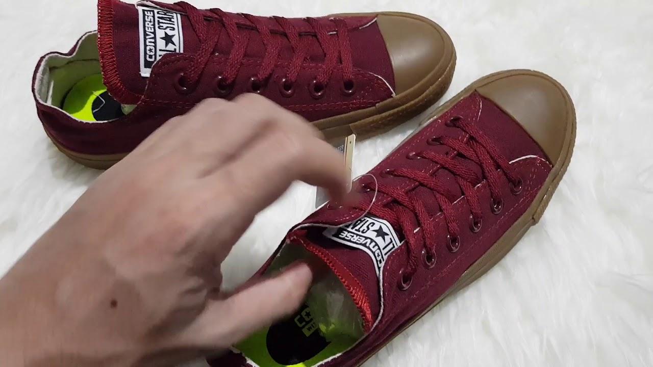 Jual Sepatu Converse ALL STAR GUM Low - YouTube 6ae0f99255