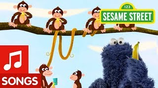 Sesame Street: 5 Little Monkeys with Cookie Monster