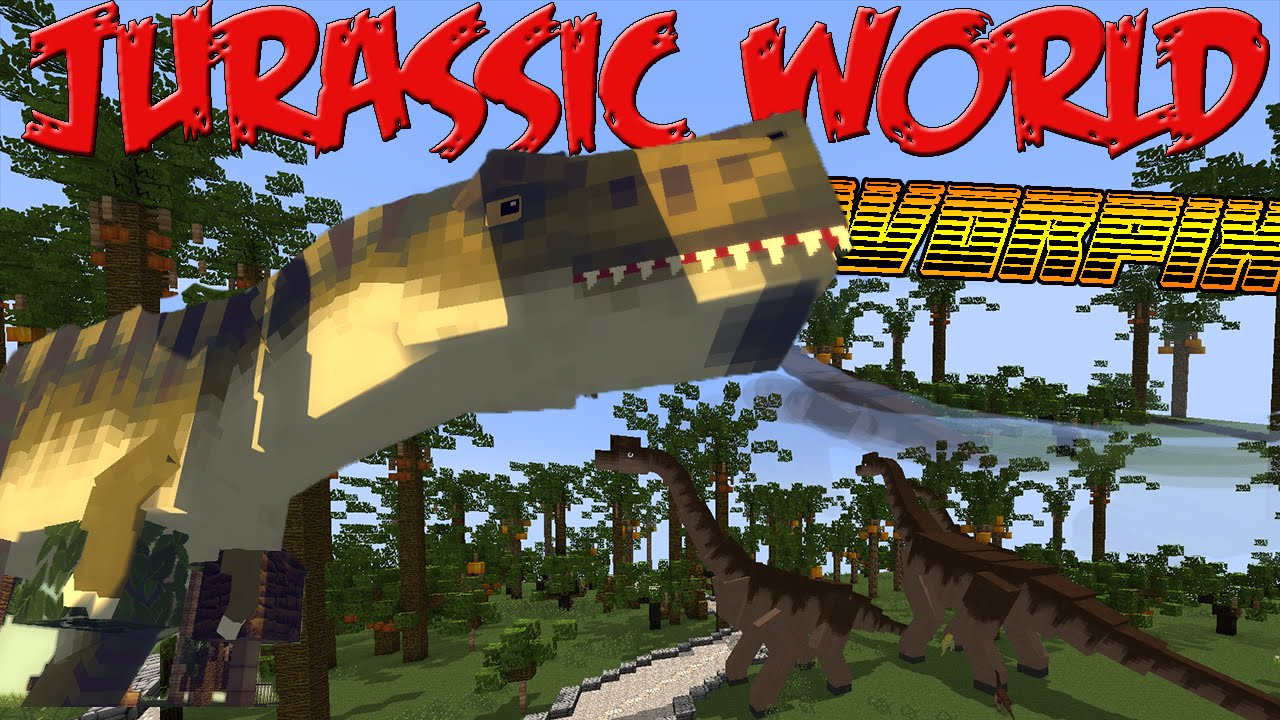 JURASSIC WORLD MINECRAFTMod 1710 YouTube – Jurassic World Map Minecraft 1 7 10