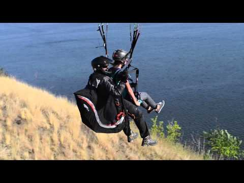 """Paragliding over the Nistru river for """"The Moldova Project"""" Charity Trust"""