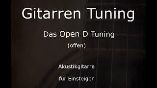 Open D Tuning (Gitarre) - Tunings der Gitarre (D,A,D,F#,A,D)
