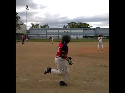 Armando Viera Hitting a Double