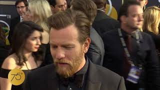 Ewan McGregor on 75th Golden Globes Red Carpet