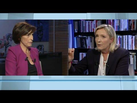 """Marine Le Pen: Emmanuel Macron, """"c'est l'ultralibéralisme, c'est mort aux pauvres"""""""