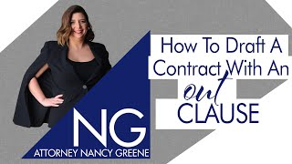 Contract Clauses Matter | How To Draft A Contract With An Out Clause