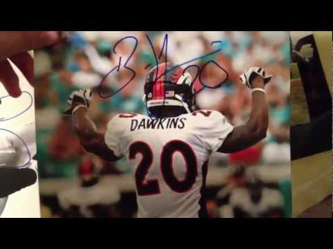 2011 Denver broncos autographs tebowing