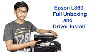Gambar cover EPSON L360 printer full installation step by step in Hindi | Print, scan,copy Epson L360 setup