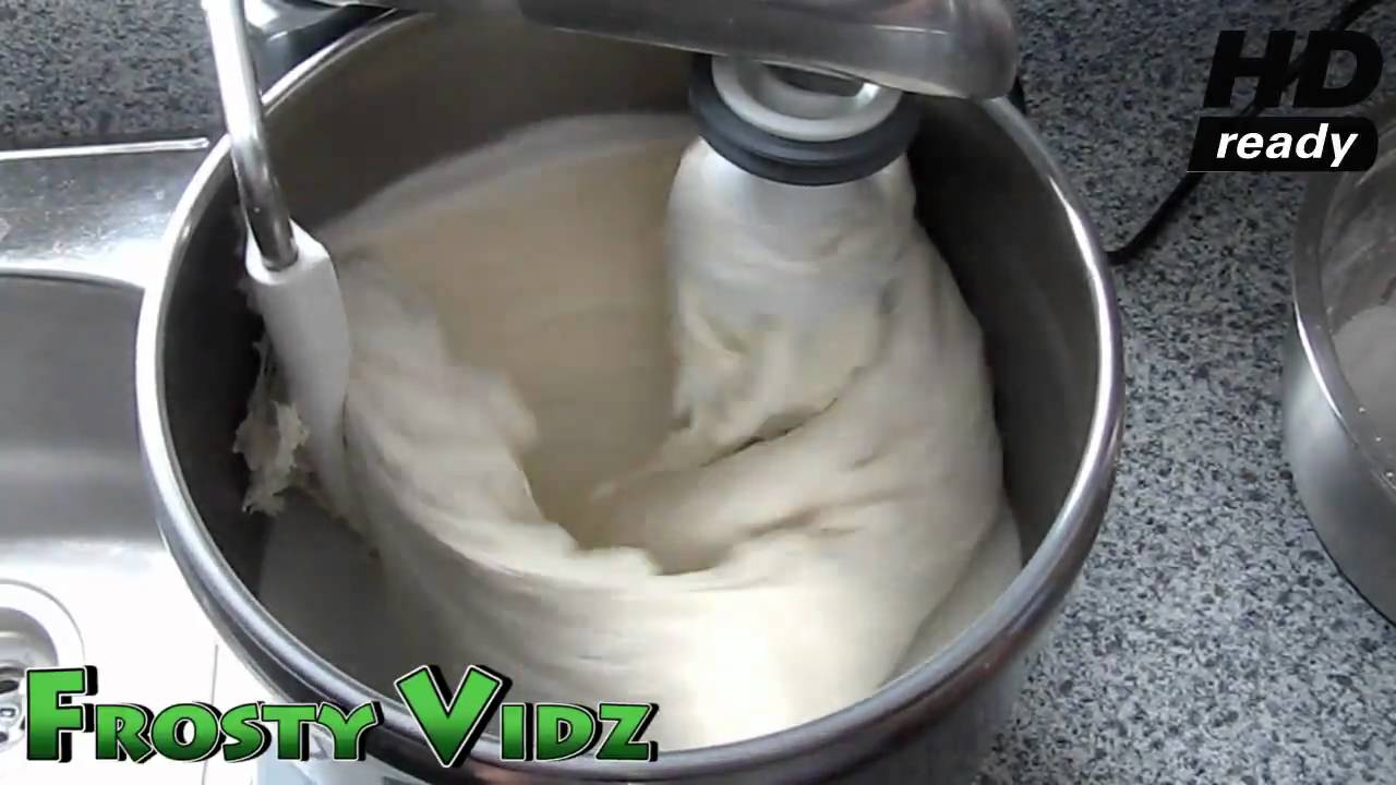 Pizza Dough Making at home in the Electrolux DLX mixer
