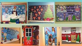 Winter's day school display board ideas | Notice board on Winter's day |
