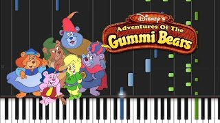 Gummi Bears - Theme Song Synthesia Tutorial