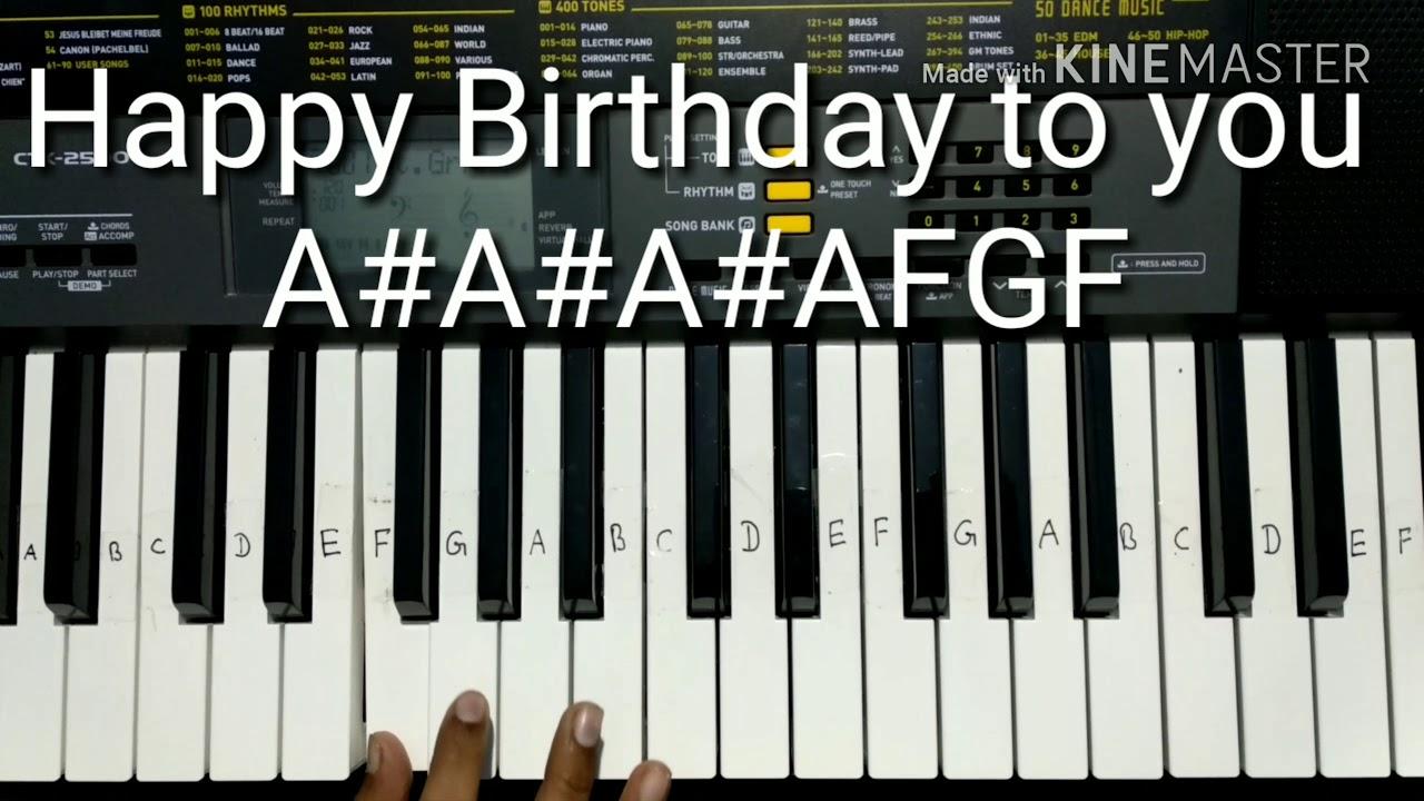 Happy Birthday Song Keyboardpiano Tutorial For Beginners Easy