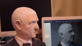 紙粘土で人物像 音楽家ブルックナーを作ってみました (Hobby clay sculpture)