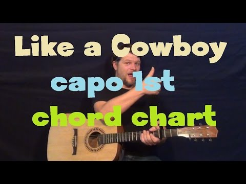 Like A Cowboy (Randy Houser) Guitar Chord Chart Lesson - Capo 1st