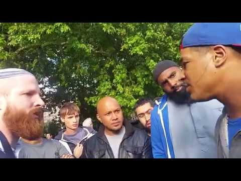 ZIONIST JEW CHALLENGED BY CHRISTIAN WHO DEFENDS MUSLIMS | STAY WOKE | PALESTINE | SPEAKERS CORNER