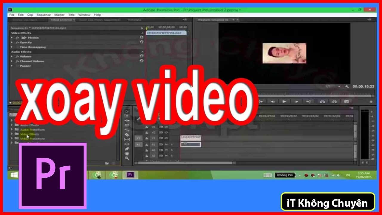 Hướng dẫn Xoay video trong Adobe Premiere Pro CC | Chỉnh sửa video Bài 3