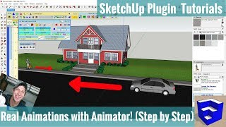 Creating a MOVING ANIMATION IN SKETCHUP with Animator - Step by Step Extension Tutorial