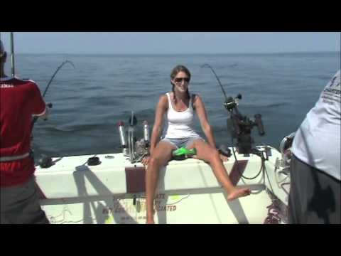 Salmon Trout Fishing Lake Ontario 2011 With ReelSilver Charters