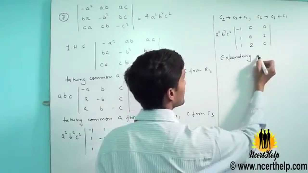 determinants solution for class 12 ncert video lectures free download