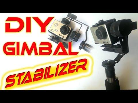 5$ Gimbal Action Camera stabilizer - homemade tutorial DIY