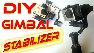 5$ Gimbal Action Camera stabilizer - homemade tutorial DIY