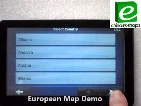 Unboxing 5 Inch HD-K27 GPS Navigation IGO MAP Bluetooth WinCE 6.0