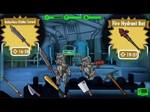 FALLOUT SHELTER - ALL MELEE WEAPONS!
