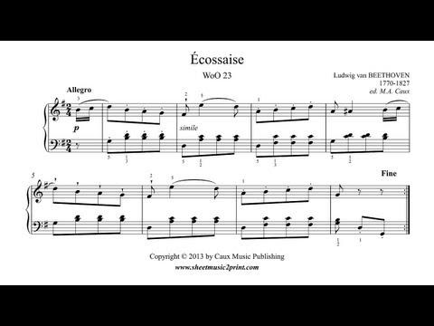 Beethoven : Écossaise WoO 23