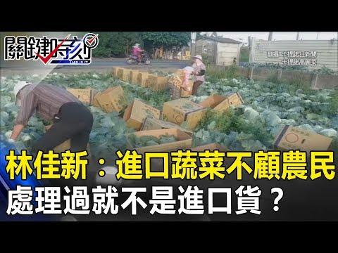 小英知道嗎?林佳新:進口蔬菜不顧農民 「處理過」就不是進口貨!? 關鍵時刻20190101-5   林佳新 梁文傑