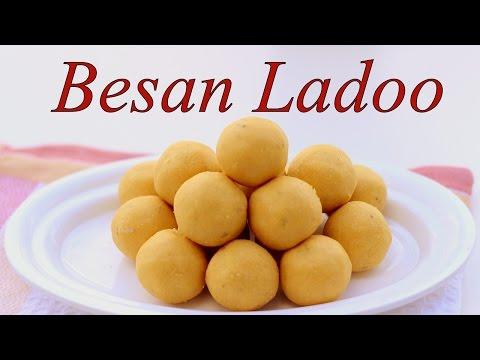 BESAN LADOO RECIPE - Besan ke Ladoo For Festival / Diwali | Indian Sweet Recipe