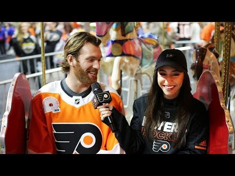 Andrea interviews Sean Couturier at the Carnival