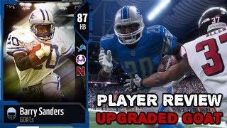 87 ovr goat edition barry sanders | player review |  madden nfl 18 ultimate team gameplay | mut 18