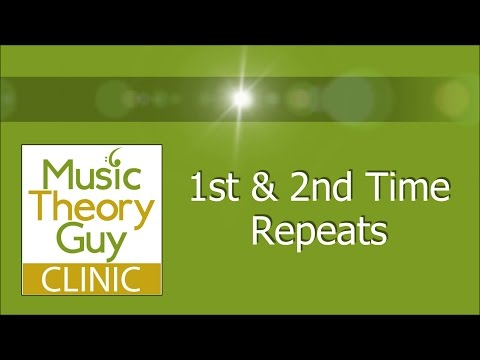 Clinic: Repeats - 1st & 2nd Time Repeats