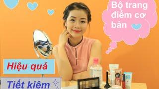 Bộ trang điểm cơ bản cho người mới bắt đầu học   Makeup starter kit  Quin Makeup