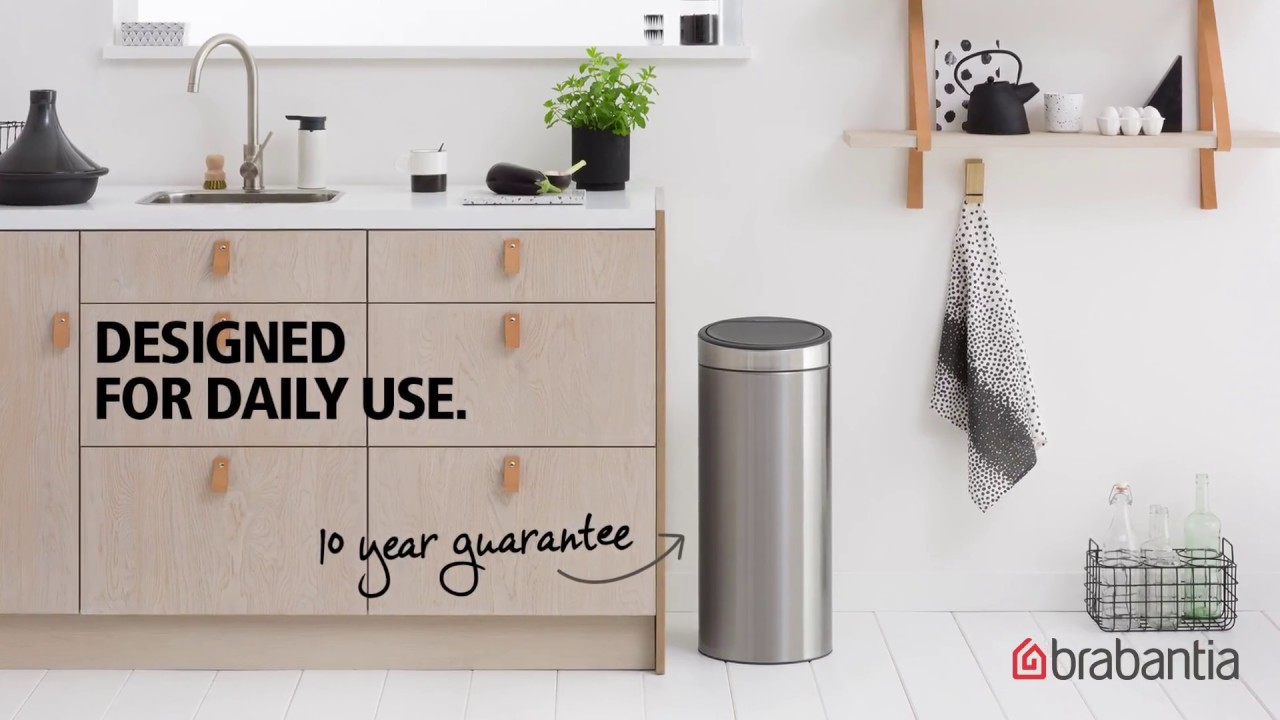 Brabantia Touch Bin 30 Liter Mat.Buy Brabantia Touch Bin 30 L Matt Black 391743 From 75 00 Best