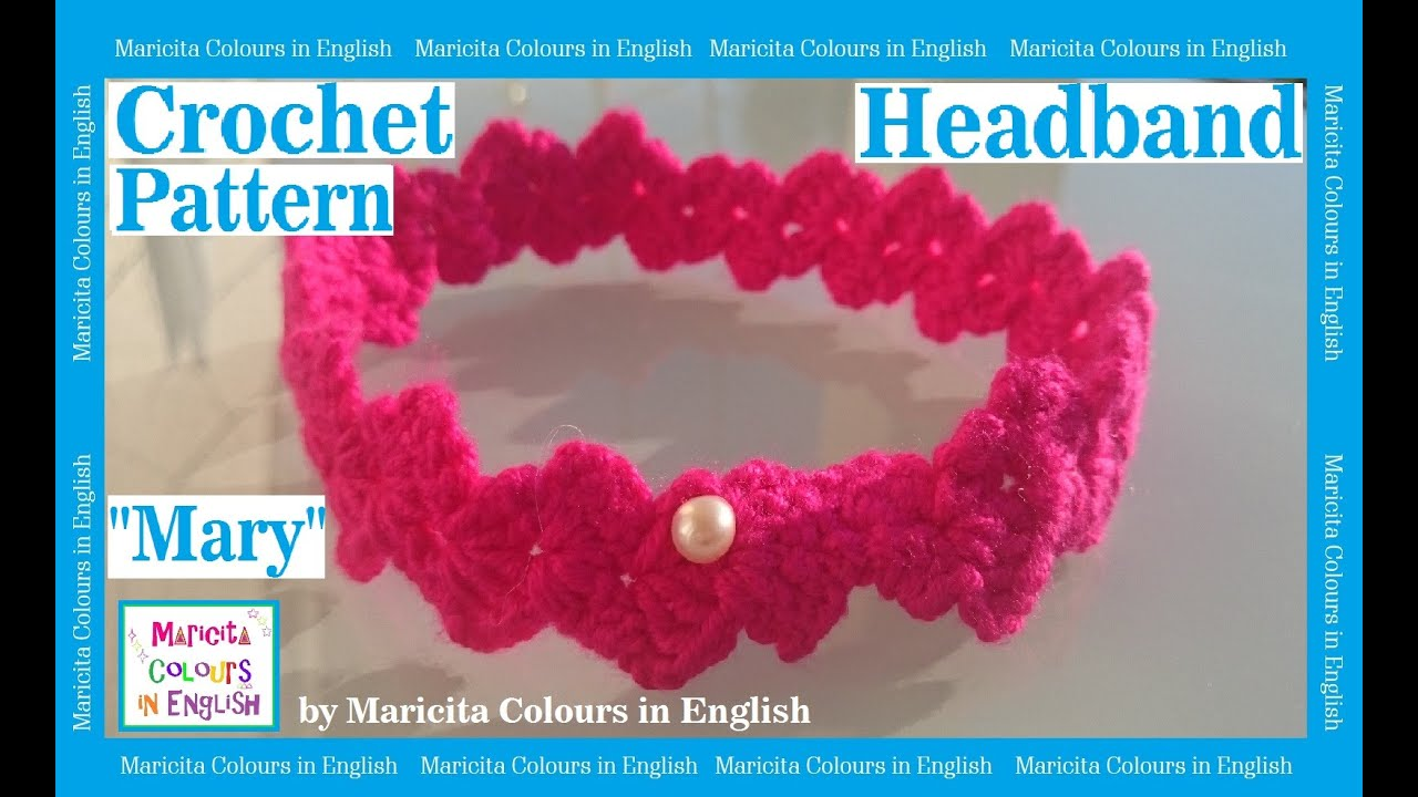 Baby Headband /Hairband Crochet by Maricita Colours in English ...