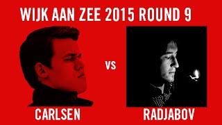 Wijk aan Zee 2015 Round 9 Magnus Carlsen vs Teimour Radjabov
