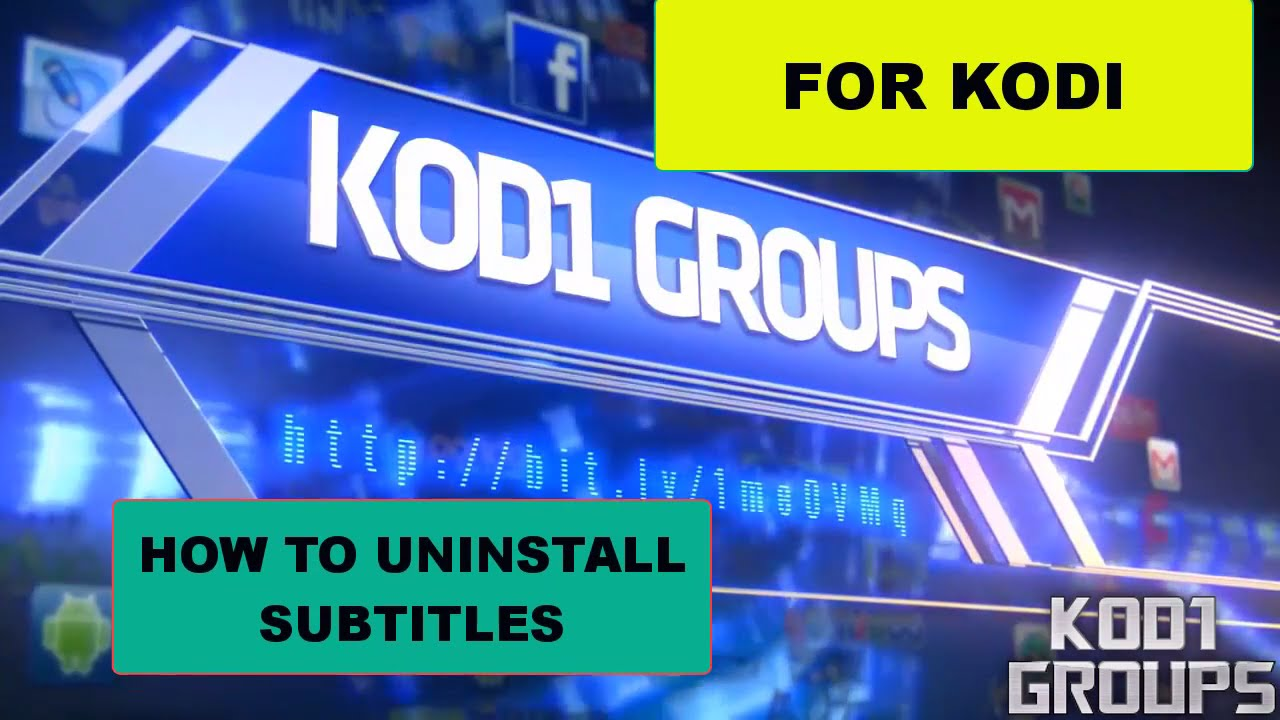 HOW TO UNINSTALL SUBTITLES FROM KODI (JD)