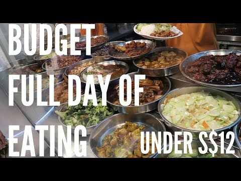 S$12 BUDGET Full Day Of Eating in Singapore