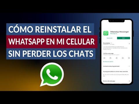 ¿Cómo Reinstalar el WhatsApp en mi Celular sin Perder los Chats? - Fácil y Rápido