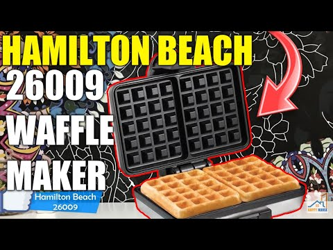 🥞Hamilton Beach 26009 Nonstick Belgian Waffle Maker, Easy to Use, Clean and Store🥞