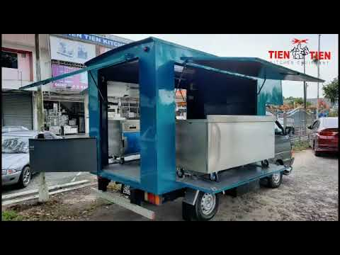 TIEN TIEN Food Truck with Customized Stainless Steel Cabinet (Made in Malaysia)