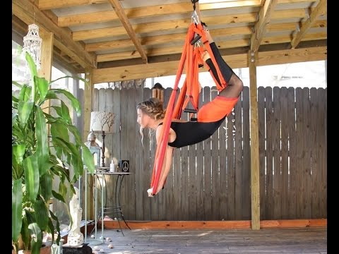 Flying Push-Ups on a Yoga Trapeze