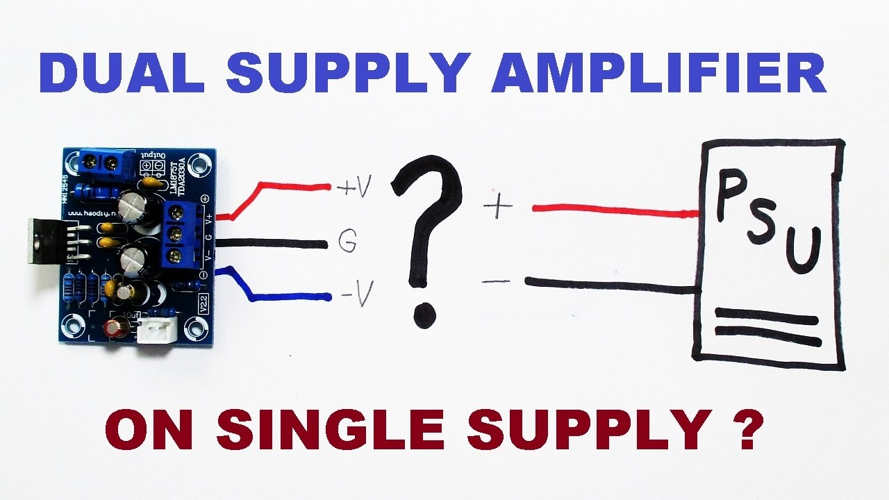 Dual Supply Audio Amplifier Kit Powered From Single Power Diagram Come Circuit Symmetrical Regulated