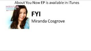 New Song! FYI - Miranda Cosgrove with Lyrics on Screen