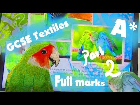 A* GCSE Textiles - Full marks  - Part 2